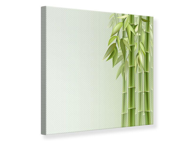 Leinwandbild Bambuswall
