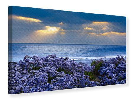 Leinwandbild Der Lavendel und das Meer