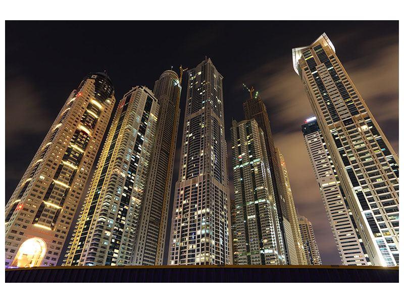 Leinwandbild Wolkenkratzer Dubai Marina
