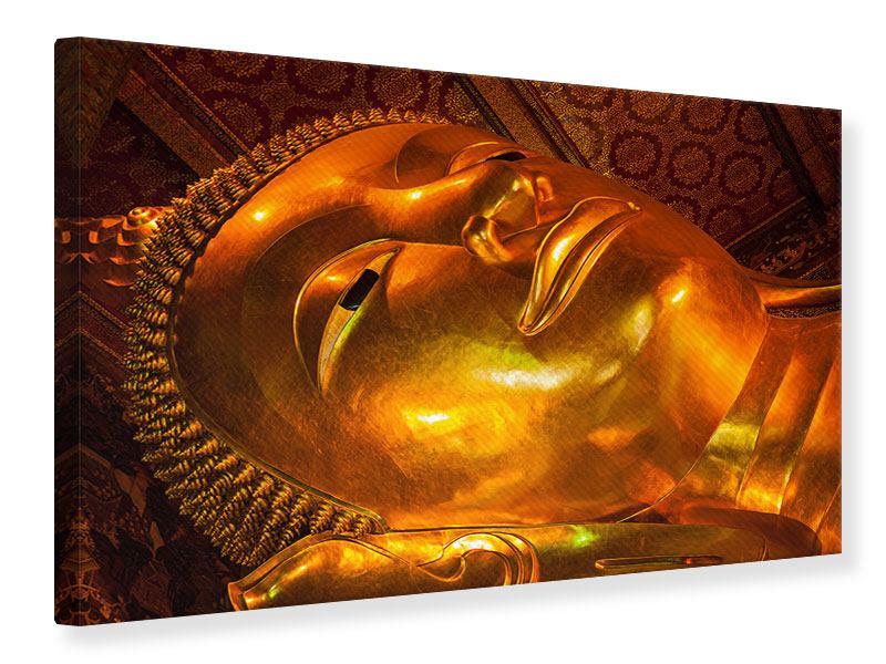 Leinwandbild Liegender Buddha