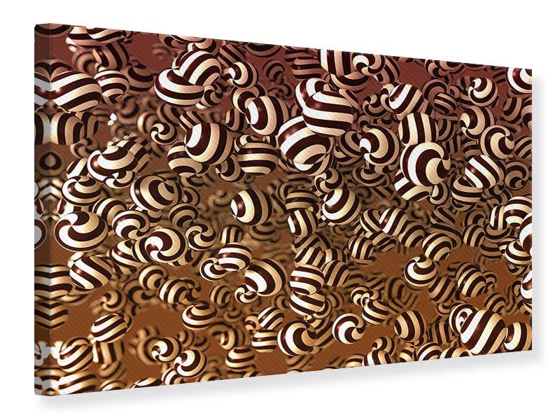 Leinwandbild Schokoladen-Bonbons