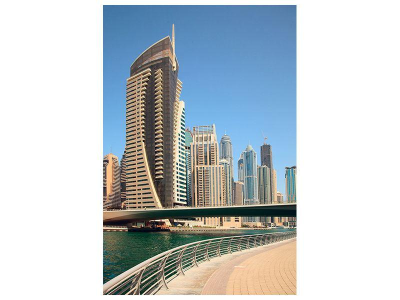 Leinwandbild Spaziergang in Dubai
