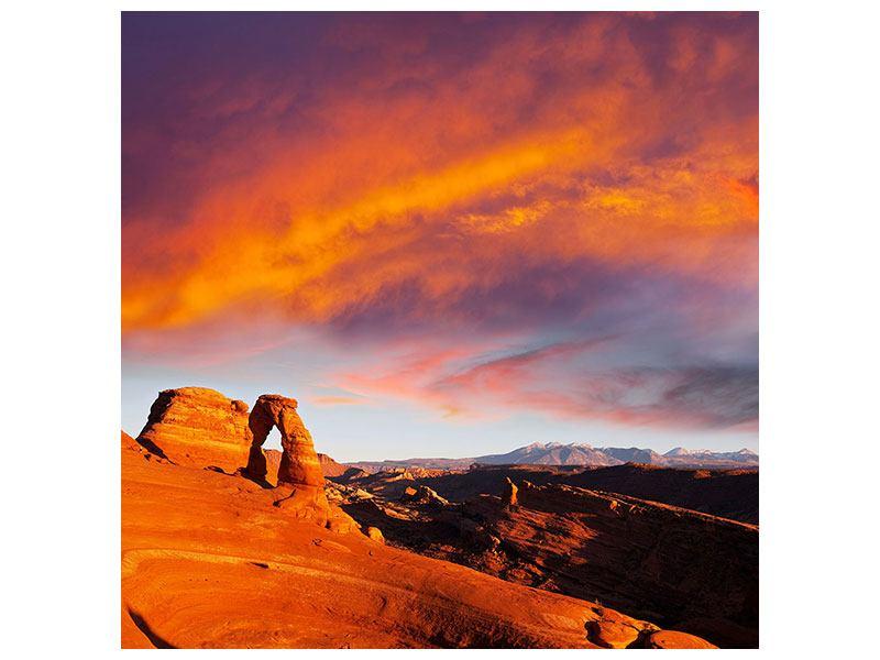 Leinwandbild Sonnenuntergang im Canon