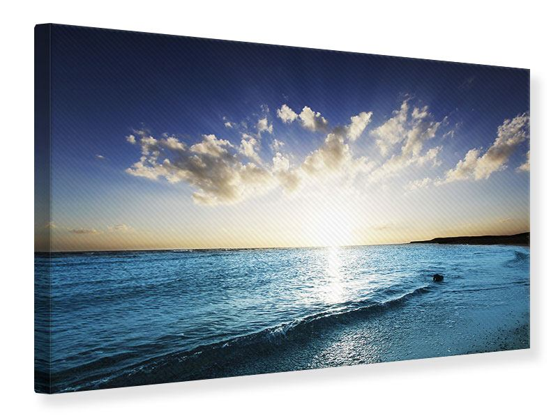 Leinwandbild Das Meer im Sonnenaufgang