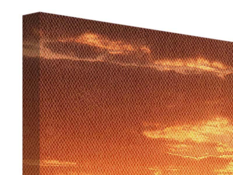 Leinwandbild Sonnenuntergang in der Savanne
