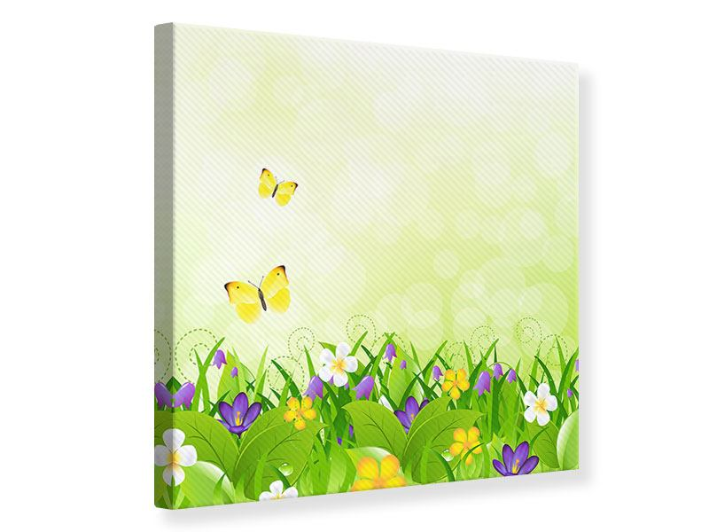 Leinwandbild Lustige Schmetterlinge