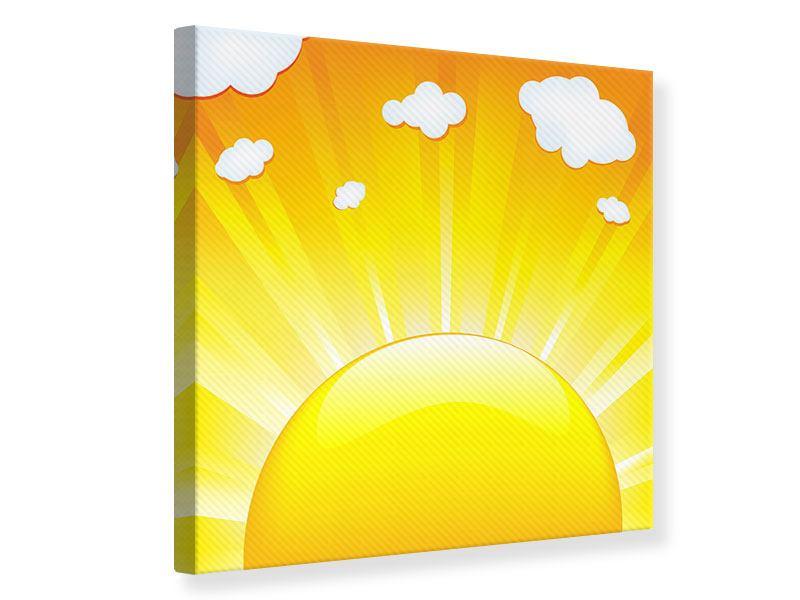 Leinwandbild Die Sonne geht auf