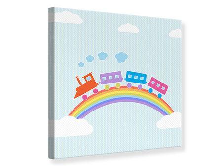Leinwandbild Der Regenbogenzug