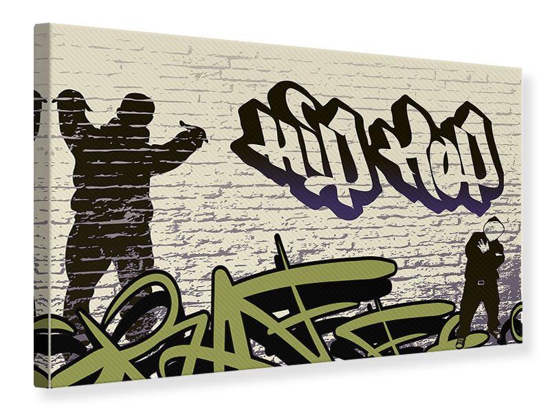 Leinwandbild Graffiti Hip Hop