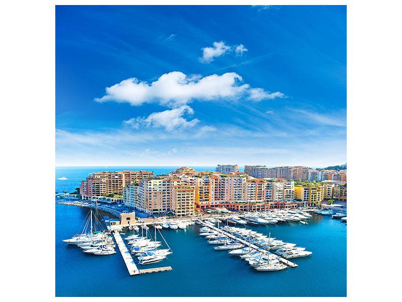 Leinwandbild Skyline Panoramablick Jachthafen Monaco