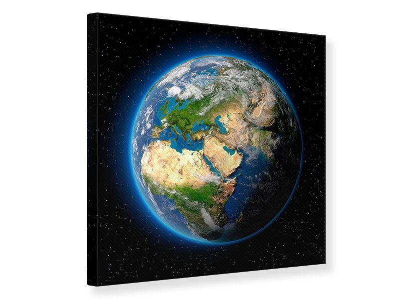 Leinwandbild Die Erde als Planet