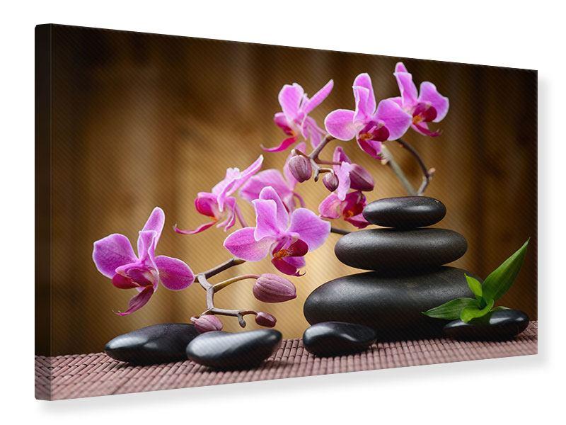 Leinwandbild Wellness-Steine