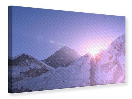 Leinwandbild Sonnenaufgang beim Mount Everest