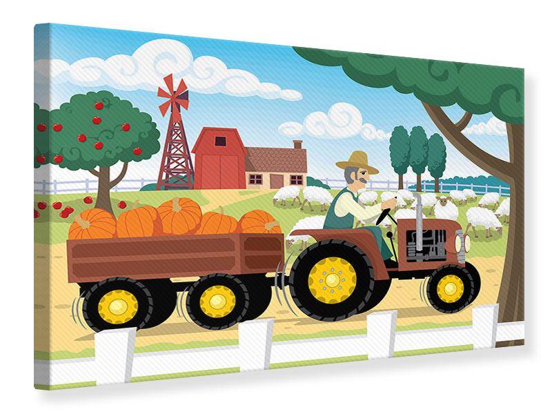Leinwandbild Bauernhof