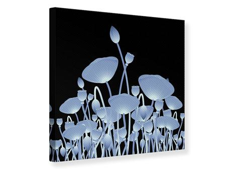 Leinwandbild Futurische Blumen