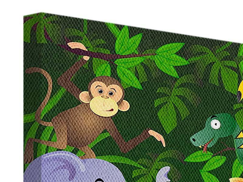 Leinwandbild Dschungelsafari