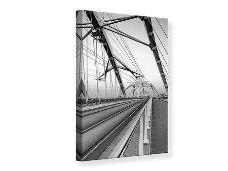 Leinwandbild Auf der Brücke