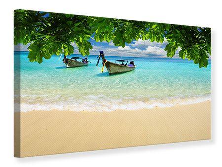 Leinwandbild Ein Blick auf das Meer