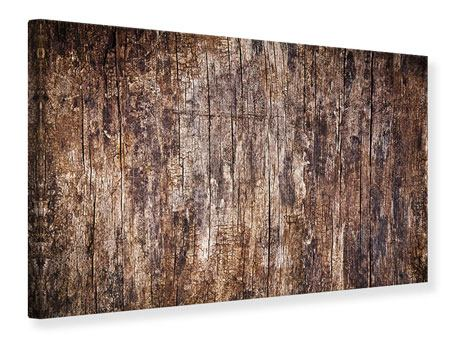 Leinwandbild Retro-Holz