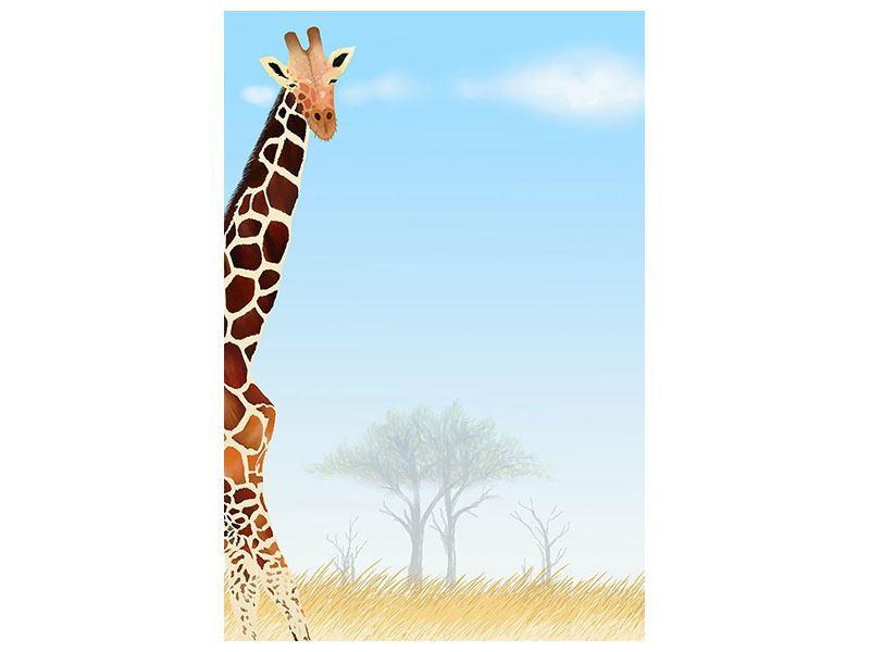 Leinwandbild Giraffenfreund
