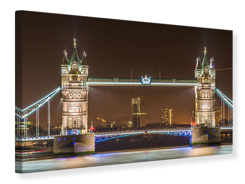Leinwandbild Tower Bridge bei Nacht