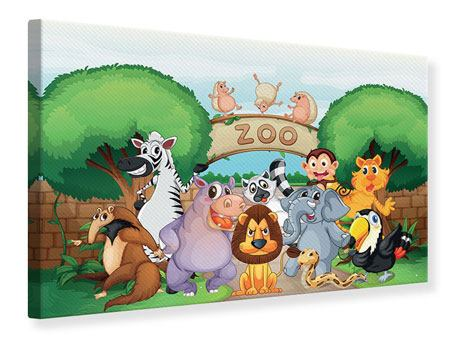 Leinwandbild Der lustige Zoo