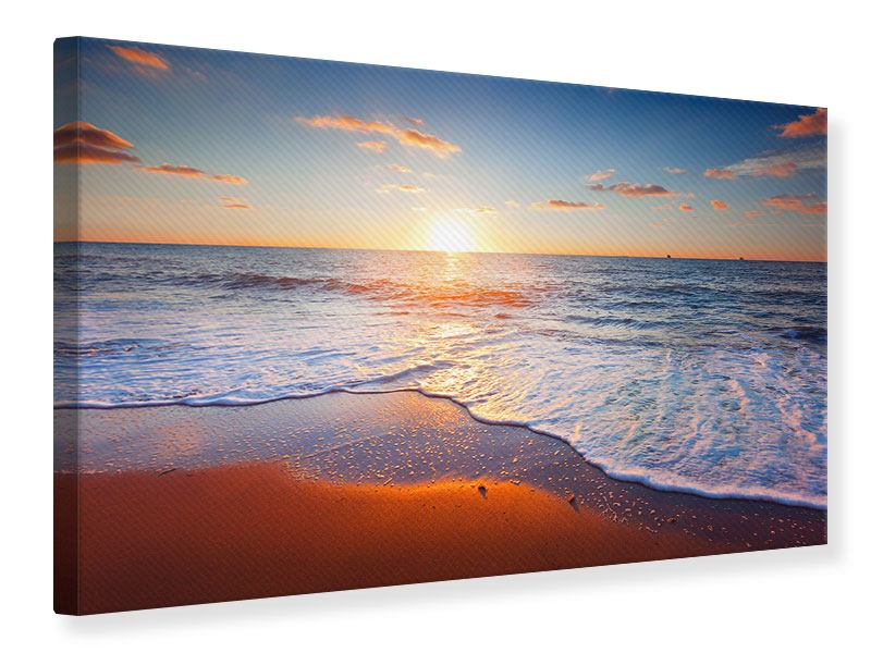 Leinwandbild Sonnenuntergang am Horizont
