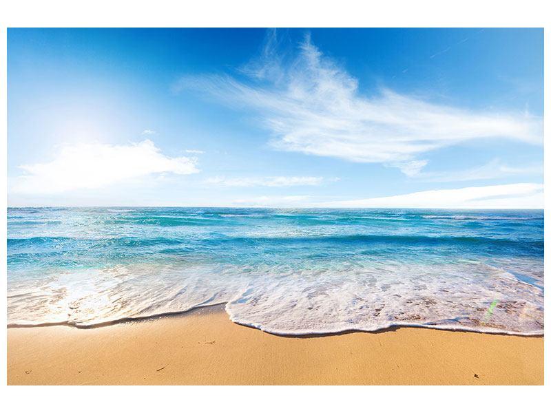 Leinwandbild Spuren im Sand
