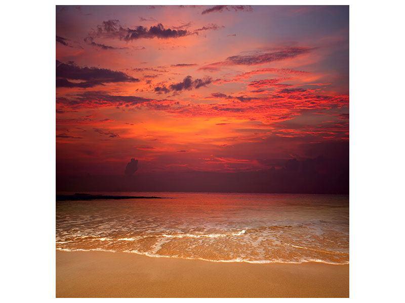 Leinwandbild Zeile auf den Sand
