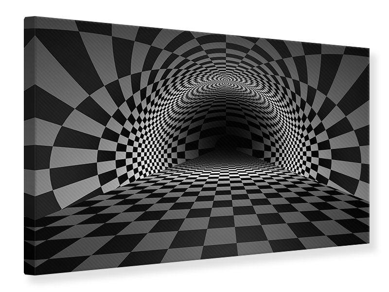 Leinwandbild Abstraktes Schachbrett