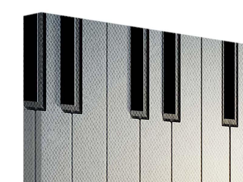 Leinwandbild Klaviertasten