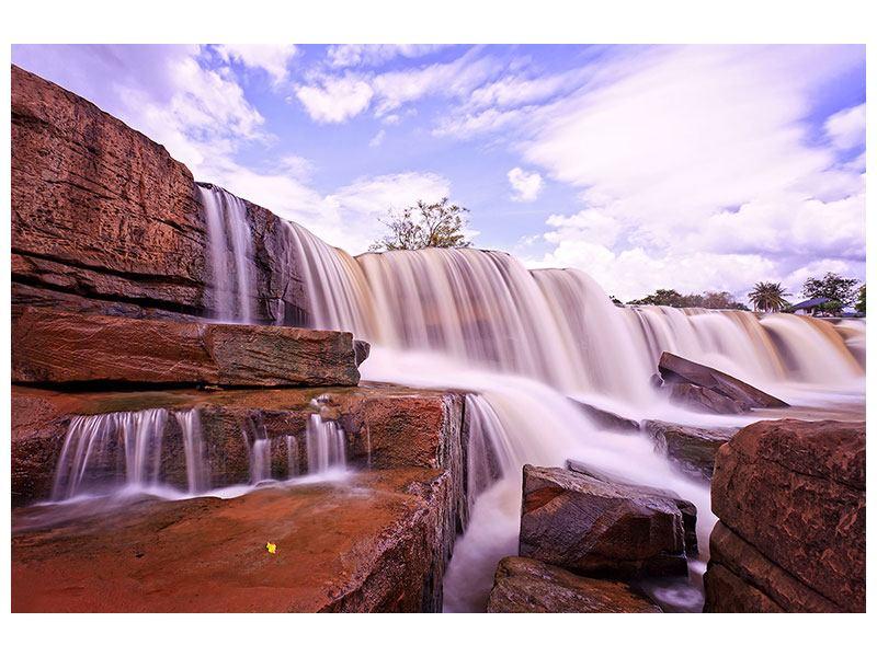 Leinwandbild Himmlischer Wasserfall