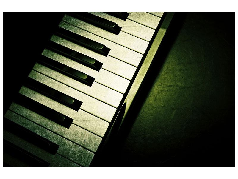 Leinwandbild Close Up Klavier