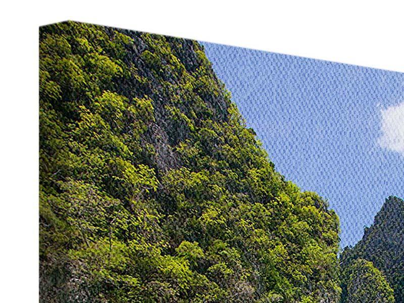 Leinwandbild Das Kliff und das Meer