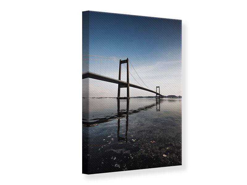 Leinwandbild Moderne Brücke