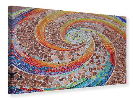 Leinwandbild Mosaik