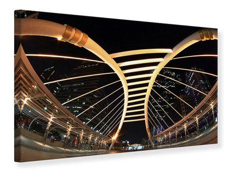 Leinwandbild Avantgardistische Brücke