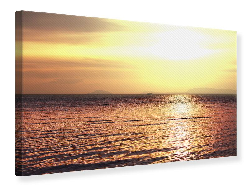 Leinwandbild Sonnenuntergang an der See