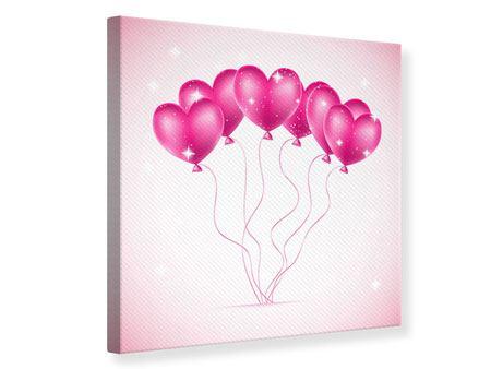 Leinwandbild Herzballons