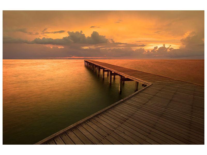 Leinwandbild Der Steg am Meer