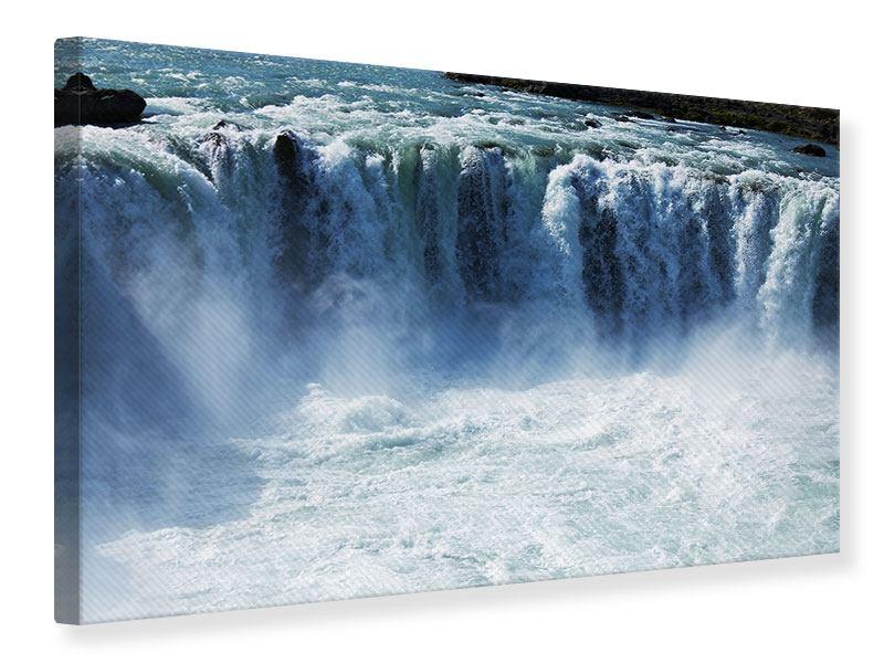 Leinwandbild Mächtiger Wasserfall