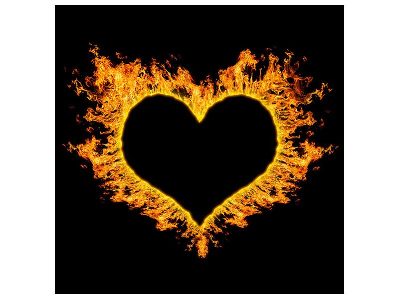 Leinwandbild Herzflamme