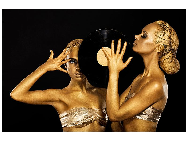 Leinwandbild Gold-DJ`s