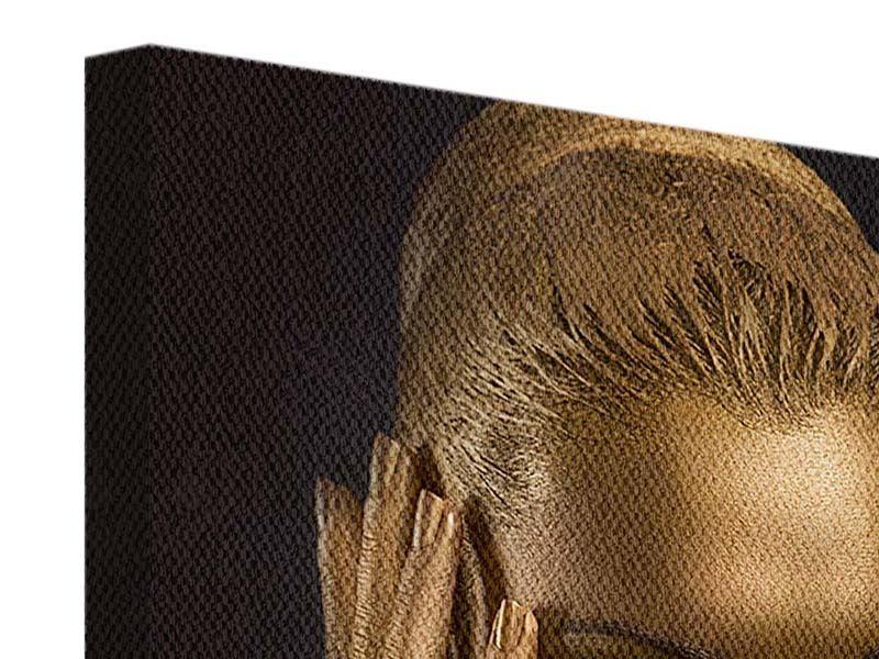 Leinwandbild Gold-Face
