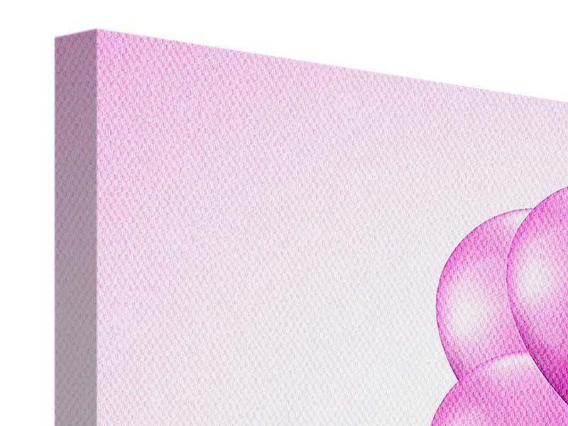 Leinwandbild Rosarote Luftballons