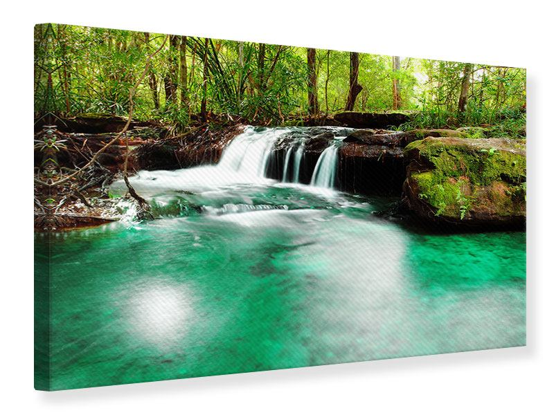 Leinwandbild Der Fluss am Wasserfall