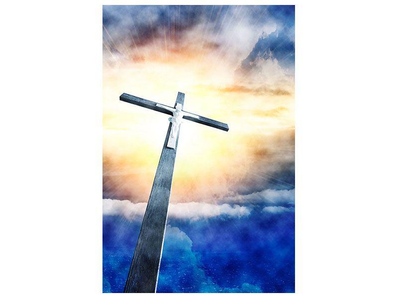 Leinwandbild Jesus am Kreuz