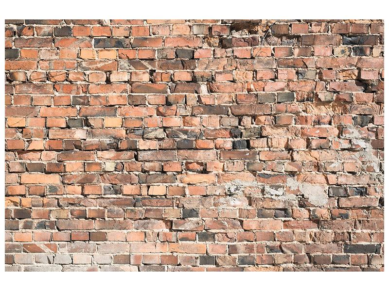 backsteinmauer leinwandbild alte tapete