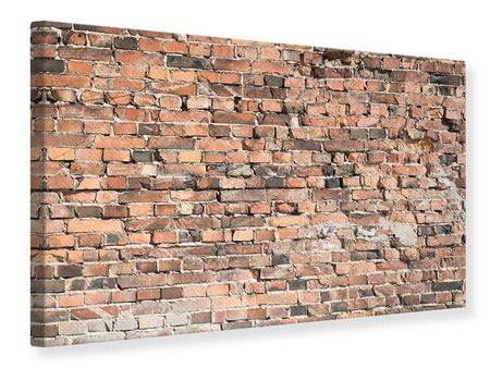 Leinwandbild Alte Backsteinmauer