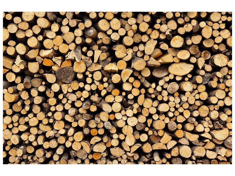 Leinwandbild Brennholz